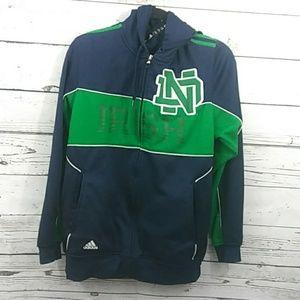 Adidas sz M Notre Dame Irish zip up jacket hoodie